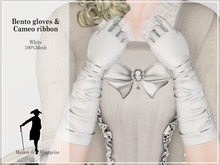 MdM - Bento Gloves fitted et Cameo Ribbon- White