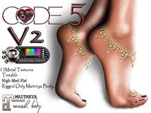 CODE - 5 Jewel Heart Anklet - V0.03