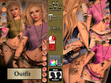 V-Twins- Casual Clothes - Sledgehammer Color Version **MESH Outfit [Mesh Bodies Compatible] Maitreya Slink Belleza