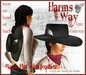 Harm's Way Black Cowboy Hat with Feather
