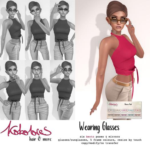 [KoKoLoReS] Wearing Glasses pose pack
