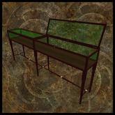 EF-Furniture: 3m Display Case - Mahogany