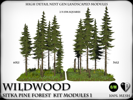 WILDWOOD - Wild Sitka Pine Forest Kit with Ready Landscaped Flower Modules