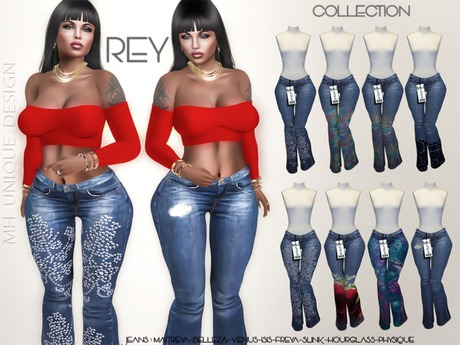 === GIFT=== MH-Rey Jeans-Collection