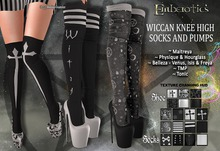 ~ Wiccan ~ Knee High Socks and Pumps & Texture Hud