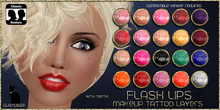 .:Glamorize:. Flash Lips Tattoo Layers - 20 Colors