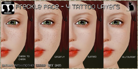 .:Glamorize:. Freckle Face -  4 Freckle Tattoo Layers