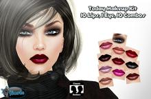 .:Glamorize:. Today Makeup Kit - 10 Lips/1 Eye Makeup/ 10 Combos