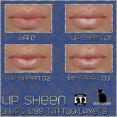 .:Glamorize:. Lip Sheen Lip Gloss Tattoo Layers - 3 Types