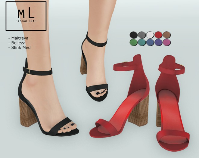 -mL- Aubree Heels (Maitreya/Belleza/Slink Mid)