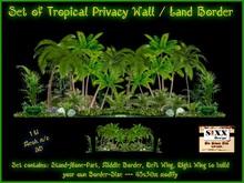 Sixx ** Set Tropical Palm Privacy Wall / Land Border - Mesh m/c 1Li - 45x30m modify - Build your own Border