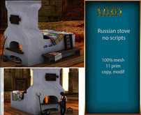 """MBD """" Russian stove""""  like decor, 100% mesh, 11 prims , without scripts"""