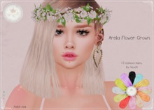 {T.T}Arelia Flower Crown -Adult- HUD Auto-unpacker