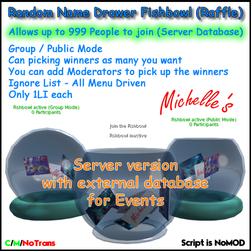 Random Name Drawer Fishbowl (Raffle) Server Event Version