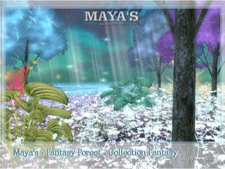 Maya's - Fantasy Forest - [Collection Fantasy] Plant, Tree,  Firefile, Light Rays, Grass, Mushrooms