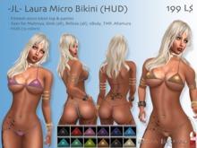 -JL- Laura Micro Bikini (HUD) for Maitreya, Slink (all), Belleza (all), TMP, eBody Curvy, Alamura