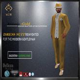 Antonio Men Mesh Suit [ Gold ]