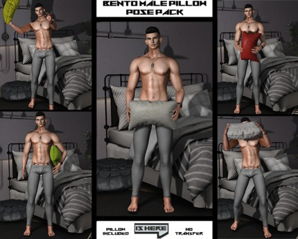 [IsHere] Bento Male Pillow Pose Pack