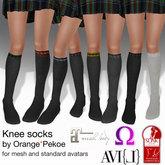 O* - Wizard school knee socks (8 pairs)