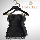-Narcisse- ADD Jean Flapper Dress - Black