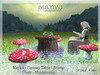 Maya's - Fantasy Table with Chair / Stump - Mushrooms