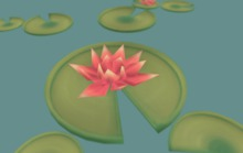 Low Poly Handpainted Lilypads