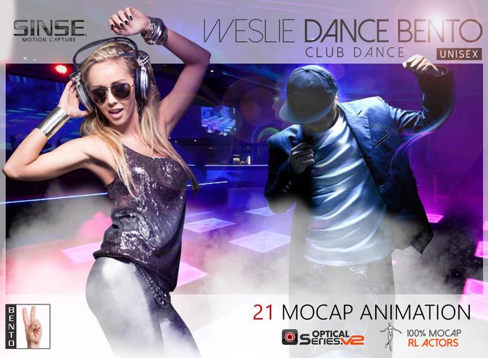 [SINSE]  Weslie Dance BENTO - Club Dance Unisex - Motion Capture Optical Series v2