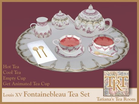 TTR-Louis XV Fontainebleau-China Tea Set