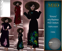 """MBD """"kimono with color pattern"""" only Maitreya, 100% fitted mesh"""