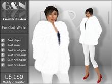 G&N Quality Design Fur Jacket White