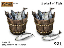 Bucket of fresh fish v1 - Old World - Rustic / Medieval