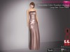 %50WINTERSALE Full Perm Chocolate Color Strapless Wrinkled Long Skirt Gown  Slink, Maitreya, Belleza, Tonic