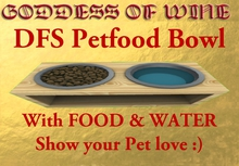 [DFS] Petfood Bowl * SHOW YOUR PET LOVE * Many beautiful details