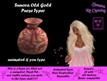 Sunora Old Gold Purse Typer
