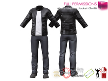 %50SUMMERSALE Men's Leather Jacket Outfit For Belleza Jake, Slink Physique Male, Signature Gianni, TMP, Adin, Onupup