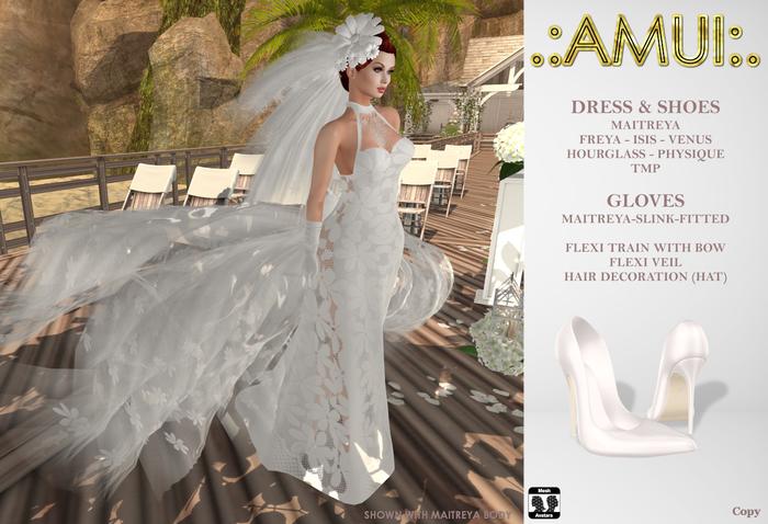 ".:AMUI:. ""Beth"" Bridal Dress (Maitreya, Belleza, Slink, TMP)"