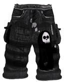*Zanzo* Monochrome Baggy Shorts (Shinigami)