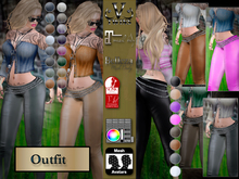 V-Twins - Casual Clothes - Midnight Color Version **MESH Outfit [Mesh Bodies Compatible] Maitreya Slink Belleza