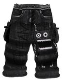 *Zanzo* Monochrome Baggy Shorts (Chimpy)