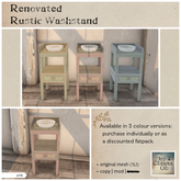 by Chiana Oh - Renovated Rustic Washstand [Pink] DISCOUNTED