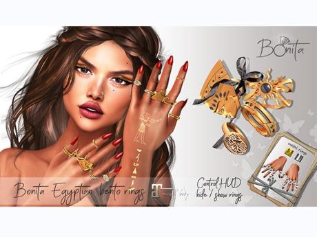 *Bonita* egyptian bento rings (MAITREYA Hands)