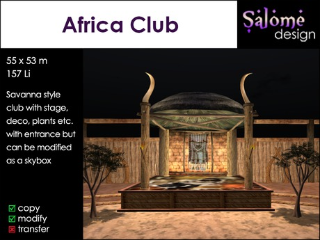 Africa Club - Dance club or place for multi purpose