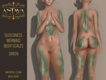 :: ANTAYA :: Green mermaid scales \ Maitreya, Slink \ HUD applier