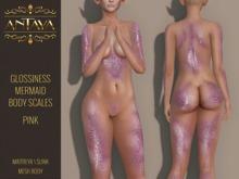 :: ANTAYA :: Pink mermaid scales \ Maitreya, Slink \ HUD applier
