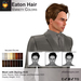 A&A Eaton Hair Variety Colors, white/grey streaks style change low weight men's mesh hair