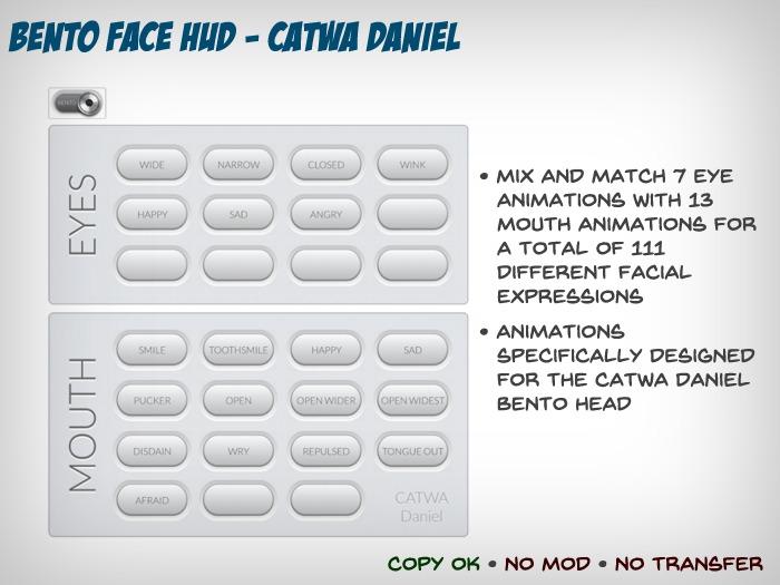 Bento Face Animation HUD - CATWA Daniel