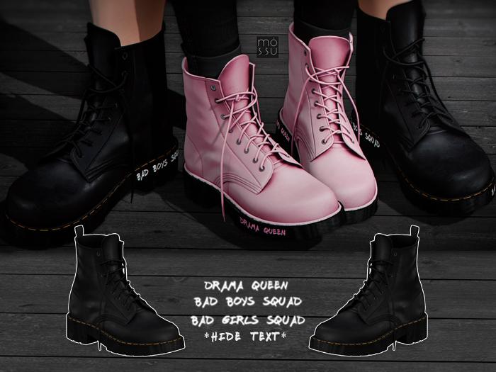Mossu - Rebel Boots - Black