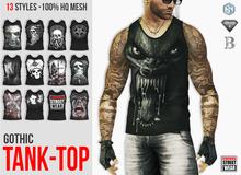 EREBUS - Black Goth Death Metal Tank Top FATPACK