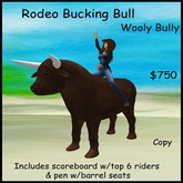 Bullriding Bull w/scoreboard - Bull riding - Brown bucking bull