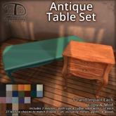 [DDD] Antique Table Set - 27 Tex. Change + 1 LI Each